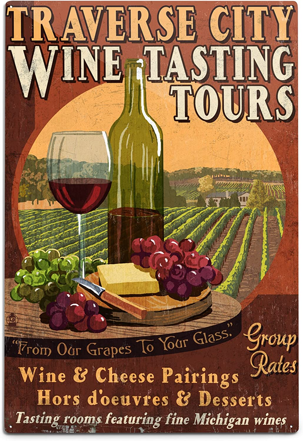Pairing wine is easy heavy duty steel sign-home decor