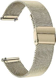 TRUMiRR Band kompatibelt med Huawei Watch GT 2 42 mm/HONOR MagicWatch 2 42 mm rem, nätvävt rostfritt stål klockarmband sna...