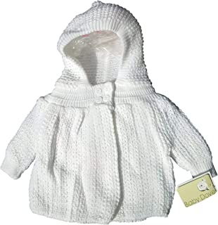 Baby Dove Knited (Popcorn Style) Crocheted Sweater Jacket with Hood - A Perfect Dressy Easter Sweater Jacket