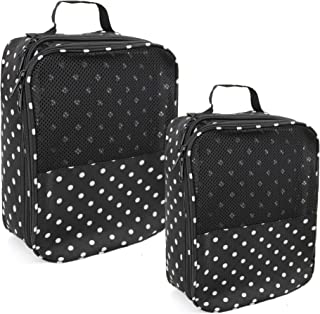 White-Dot Shoe Bags Hold 3 Pairs of Shoes for Travel Accessories with Back Strap 2 Pack Shoe Bag for Women Men