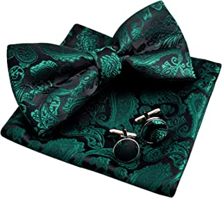 black shirt green bow tie