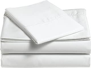 Pinzon 400 Thread Count Egyptian Cotton Sateen Hemstitch Sheet Set - Queen, Eggshell