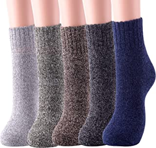 Womens Wool Socks Thick Warm Winter Vintage Knit Thermal Gifts