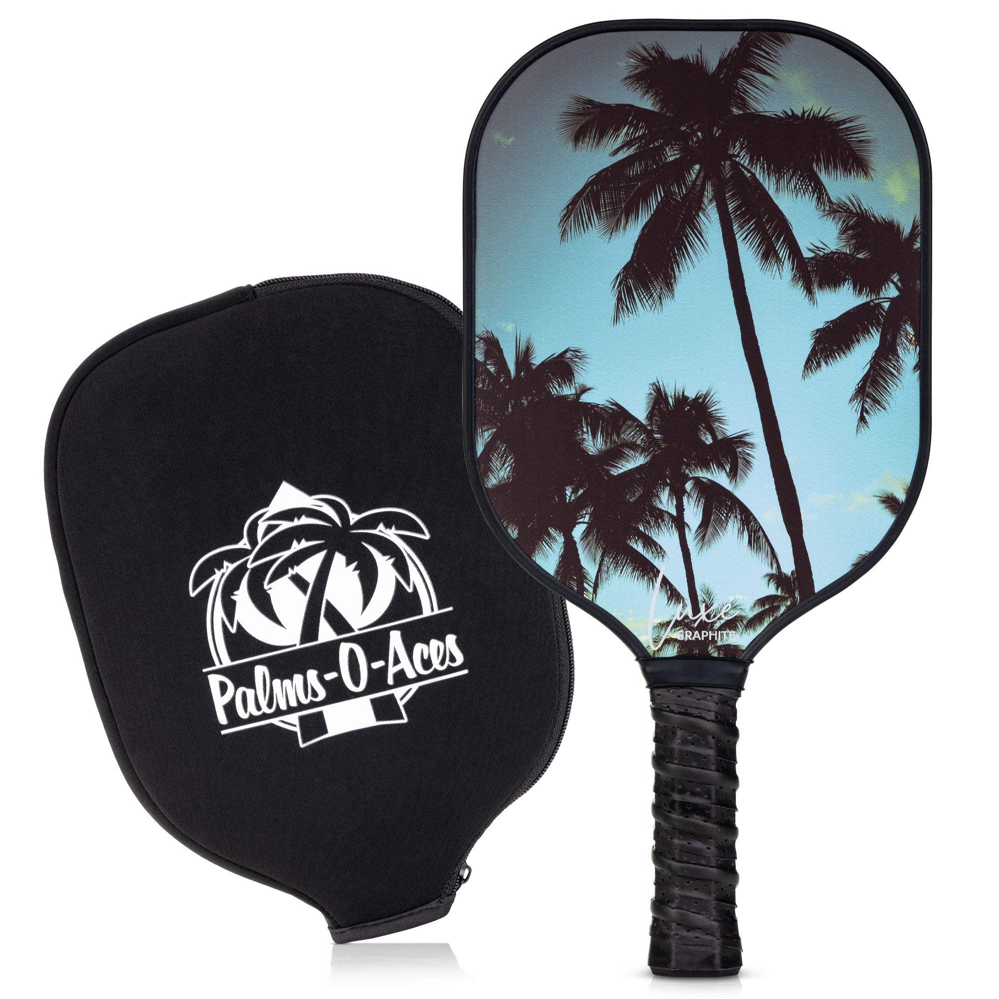 Palms-O-Aces Graphite Pickleball Paddle with Cover - T -WFFL