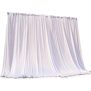 Lehom Birthday Party Wall Backdrop Wedding Backdrop Drapes Ice Silk Curtain Wedding Ceremony Background White 9.8x9.8ft