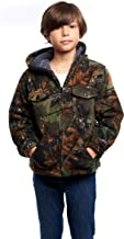 Trail Crest Kids Camo Sherpa lined Zip Up Jacket