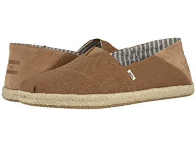 TOMS Alpargata Convertible on Rope (Dark Mustard Heritage Canvas on Rope Convertible) Men