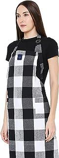 Encasa Homes justerbart köksförkläde med fickor och handdukshållare – 79 x 64 cm – återvunnen bomull, för hem och restaura...