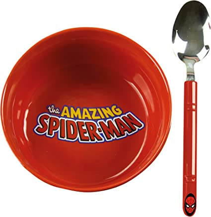 Preisvergleich für Marvel Comics Spiderman Frühstücks-Set, Keramik, Mehrfarbig, 14x 14x 6cm