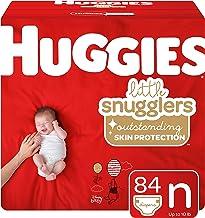 پوشک بچه Huggies Little Snugglers ، اندازه نوزاد ، 84 تعداد (بسته بندی ممکن است متفاوت باشد)
