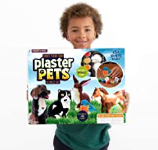 Made By Me Paint Your Own Plaster Pets, Includes Easy to Paint Cat, Dog, Rabbit, Bird & Horse by Horizon Group USA, Multicolored