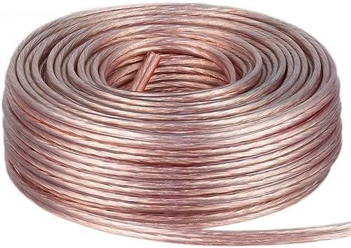 DCSk 25m - 2 x 1.5mm² - Câble Audio pour Enceintes - Câble HP Haut-Parleur en Cuivre pour HiFi et Hi-FI Embarquée - F...