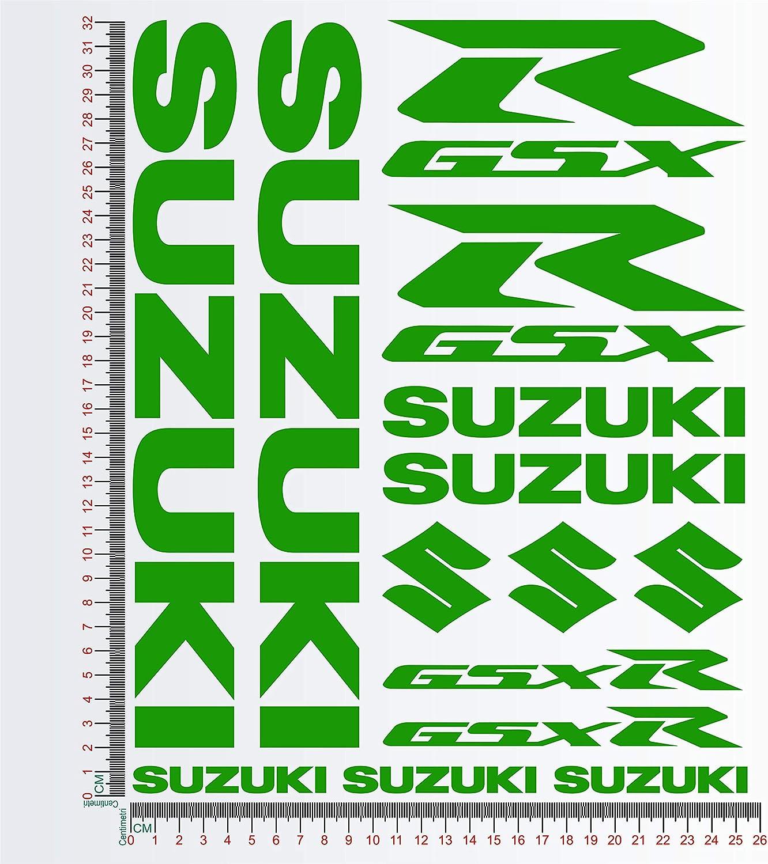 035 Orange Aufkleber-Set kompatibel mit Suzuki GSXR Kit 1 Motorrad Decal Code 01196