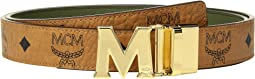 MCM - Color Visetos Gold Buckle Belt