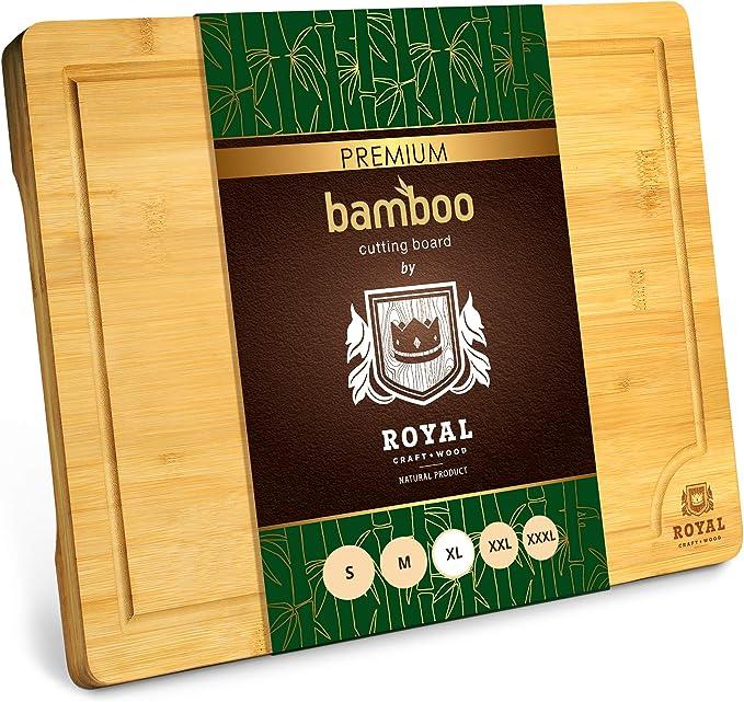 ROYAL CRAFT WOOD Extra Large Organic Bamboo Cutting Board - Extra Large