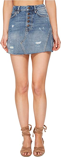 Free People - Denim A-Line Skirt
