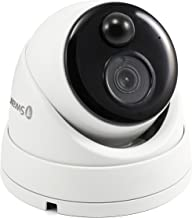 Swann Wired PIR Dome Security Camera, Ultra 4K HD Surveillance Cam with Color Night Vision, Indoor/Outdoor, Thermal, Heat & Motion Sensing, Add to NVR with PoE, SWNHD-886MSD