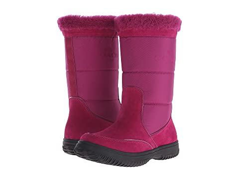 Womens Boots COACH Sherman Cranberry/Cranberry Suede/Nylon
