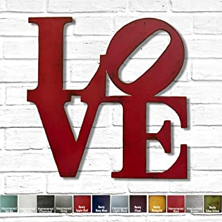 Best LOVE Metal Wall Art - Choose your size - 8x8, 11x11, 17x17, 24x24 or 36x36 inch tall - Choose LOVE, HOME, HOPE or AMOR sign - Choose your Patina Color Review