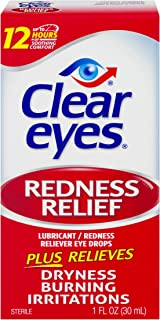 Clear Eyes Redness Relief Eye Drops   Relieves Drying, Burning & Irritations   1 Ounce   Pack of 3