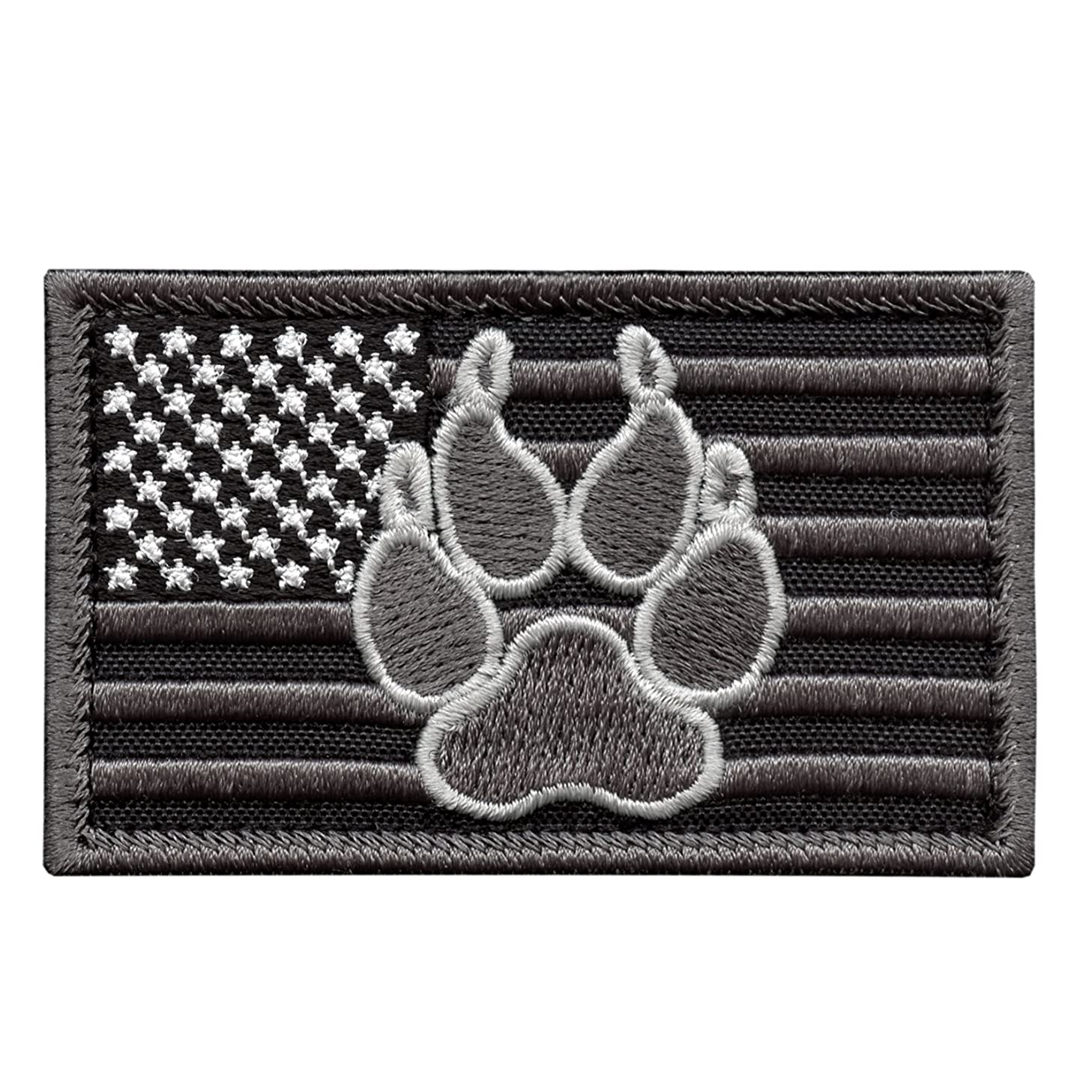 LEGEEON ACU USA American Flag K-9 Dog Handler Subdued Morale Tactical Embroidery Sew Iron on Patch