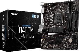 MSI - B460M-A PRO - Placa Base Pro Series (10th Gen Intel Core, LGA 1200 Socket, DDR4, USB 3.2 Gen 1, Gigabit LAN, DVI-D/H...