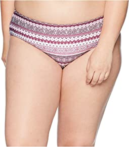 BECCA by Rebecca Virtue Plus Size Tahiti Reversible Hipster