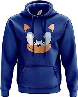 Blue Hedgehog Hoodie - Video Game Movie Film TV Show 80% Ringspun Cotton Comfy 80% Ringspun Cotton 20% Polyester Kangaroo ...