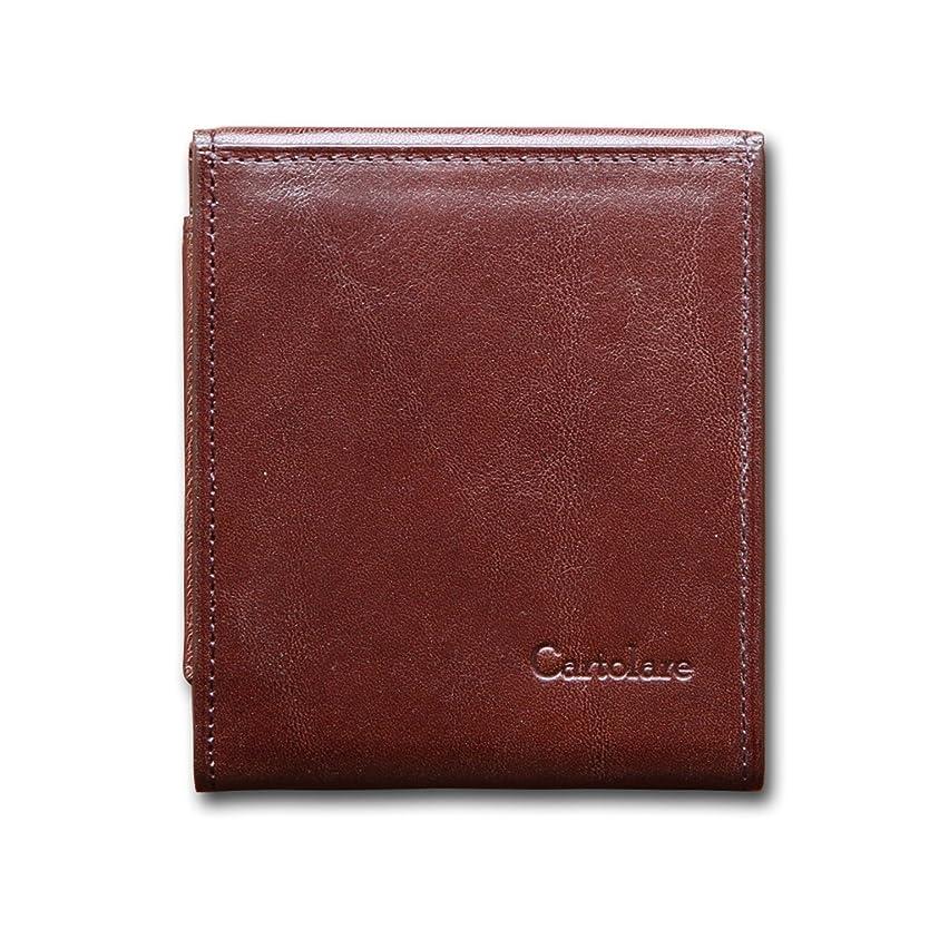 遅滞せっかちまでカルトラーレ ハンモックウォレット イタリアンレザー 薄くて小さいコンパクトな二つ折り財布