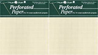 Mill Hill 14 Count Perforated Paper 2 Pack Bundle, 9 by 12-Inch, Ecru, 2 Per Package