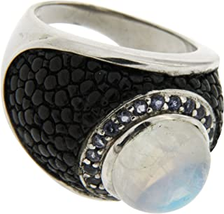renato fellini 女式戒指925银镶嵌月光石 hejgr5910rmsio 圆形 multi-coloured