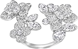 Swarovski Eden Open Rhodium Plated Crystal Fashion Ring - Size 18.15 mm