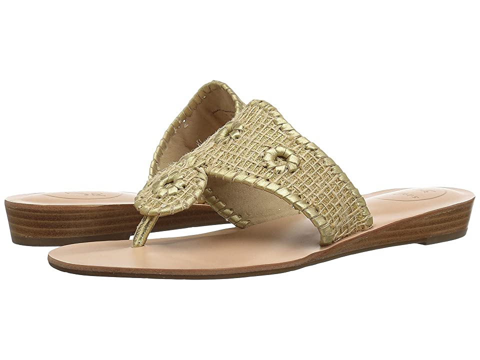 Jack Rogers Christine (Gold/Gold) Women