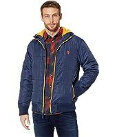 Rib Cuff Hooded Jacket