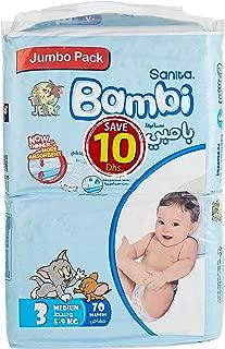 Sanita Bambi Jumbo pack Medium # 3 5-9 KG