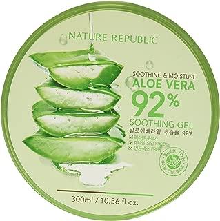 Nature Republic Soothing & Moisture Aloe Vera 92% Gel, 300ml (Pack of  12)