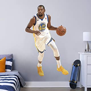 FATHEAD NBA Golden State Warriors Kevin Durant Kevin Durant- Officially Licensed Removable Wall Decal, Multicolor, Life-Si...