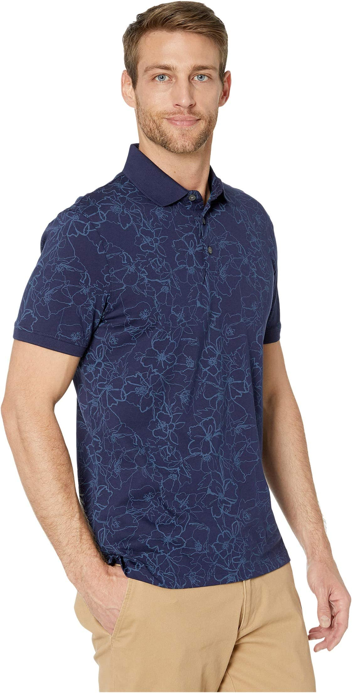 Calvin Klein Short Sleeve All Over Floral Print DWCOt