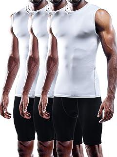 Neleus Men's 3 Pack Compression Tank Top Dry Fit Athletic Shirts