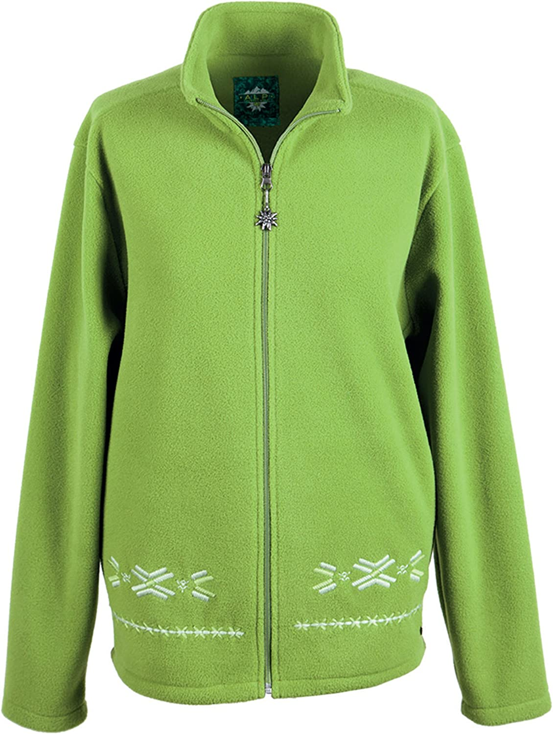 Alp by Brush Ladies Feece Jacket Oversizede with Embroidery
