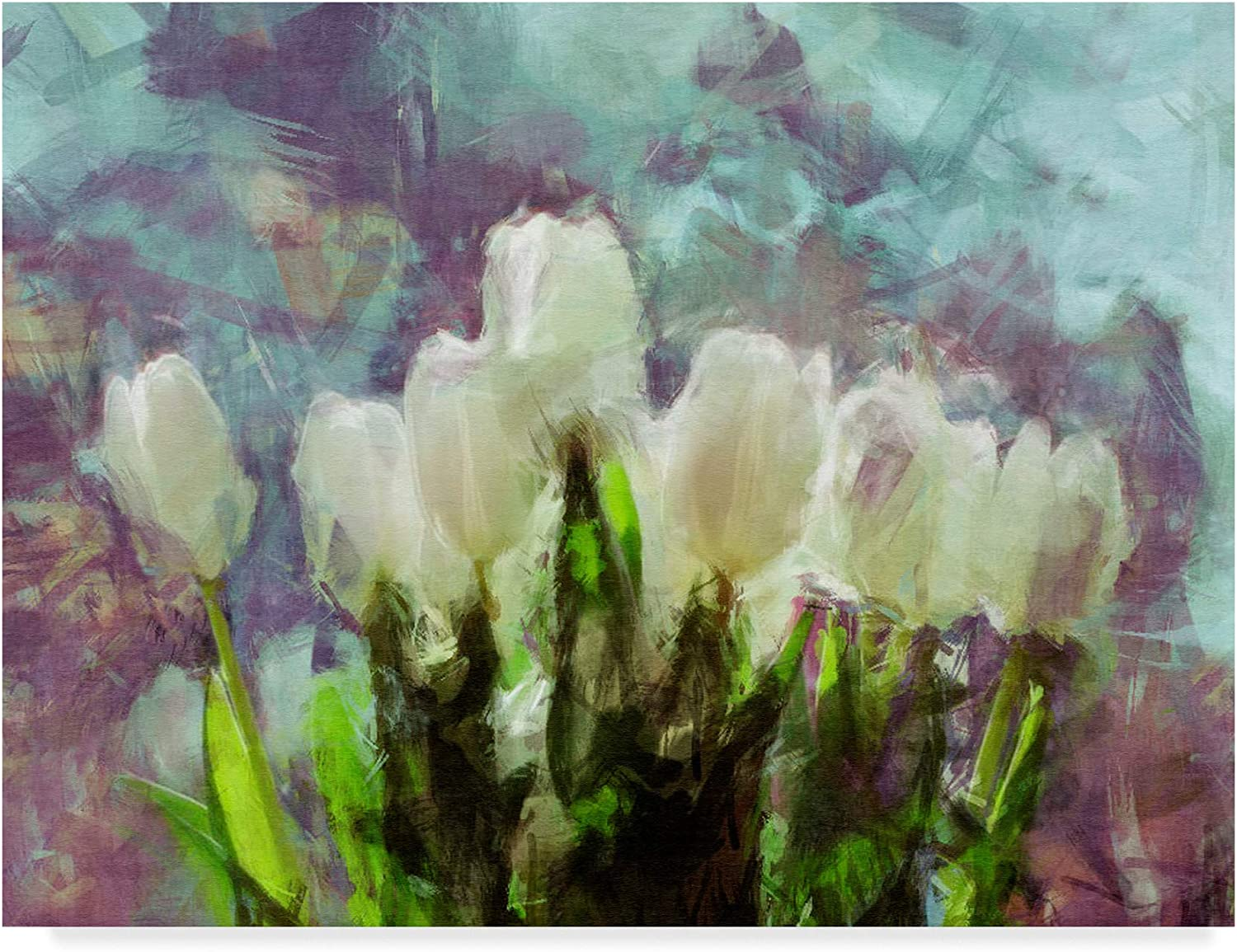 Trademark Fine Art Sunlit Tulips Ii Wall Decor by Noah Bay, 14x19