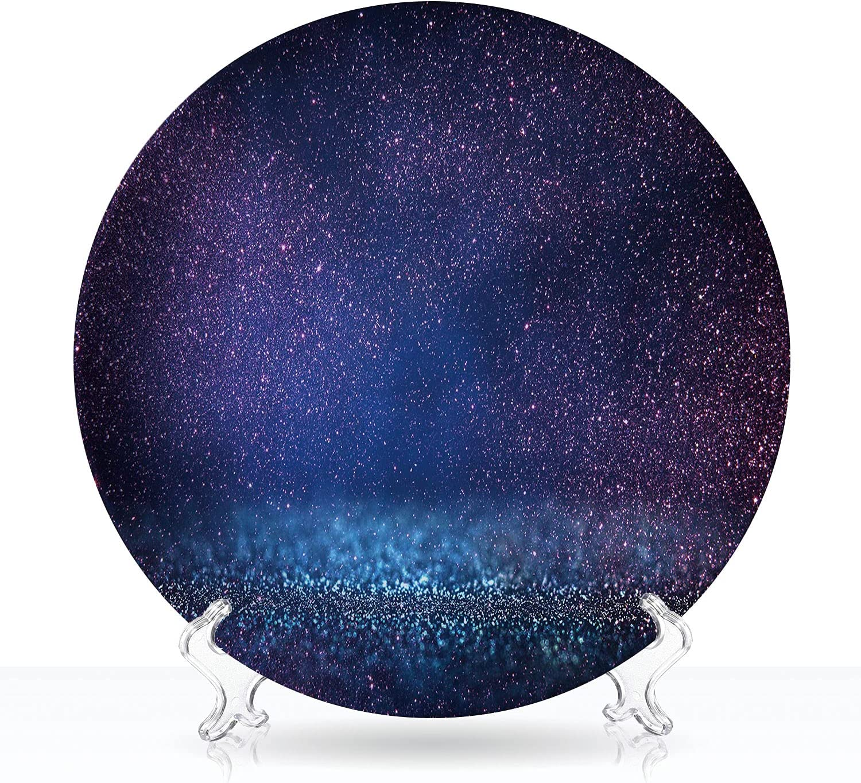 Tstyrea Nippon regular agency GlitterLights.Blue Decorative Plate Purple Black.Def and New arrival