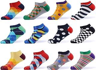 Calcetines de tobillo de algodón casual, coloridos, divertidos y coloridos, para hombre