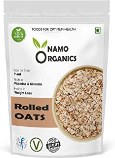 Namo Organics Rolled Oats 1 kg - Fibre & Protein Rich Wholegrain Cereal - Healthy Breakfast Serial