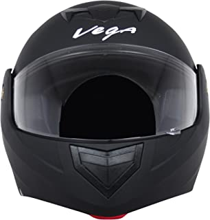 Vega Crux DX Flip-Up Helmet (Dull Black, M)