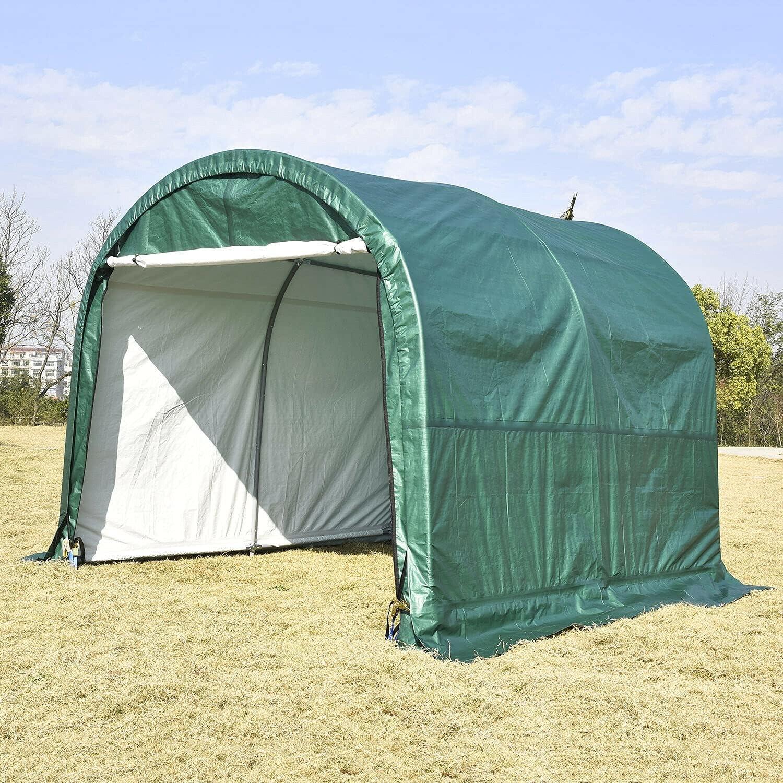 HUIJK OFFer Storage Sheds 10'x10'x8' Canopy S Steel Tent Frame Carport Max 64% OFF