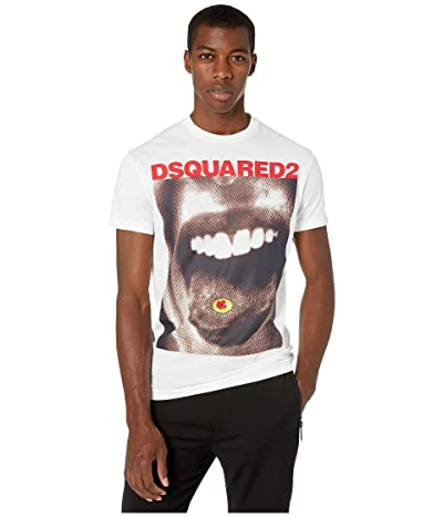DSQUARED2 Dyed Acid Hit Cool Fit T-Shirt (White) Men