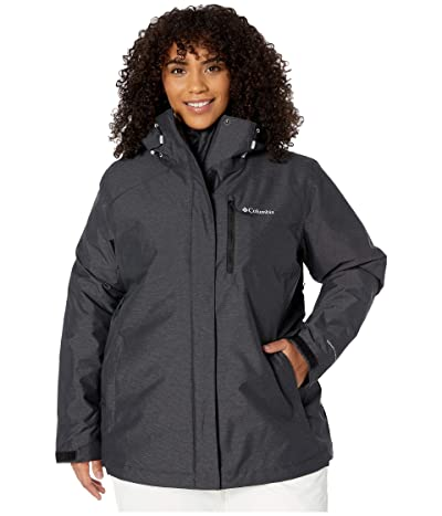 Columbia Plus Size Whirlibird IV Interchange Jacket (Black Crossdye/Black) Women