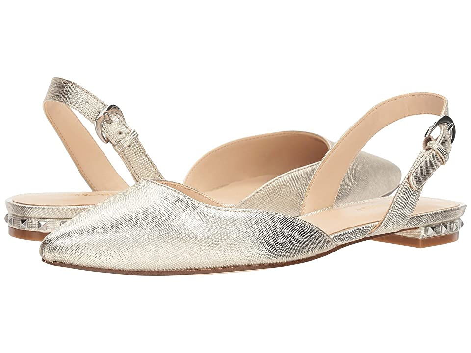 Nine West Althoff (Light Gold Synthetic) Women