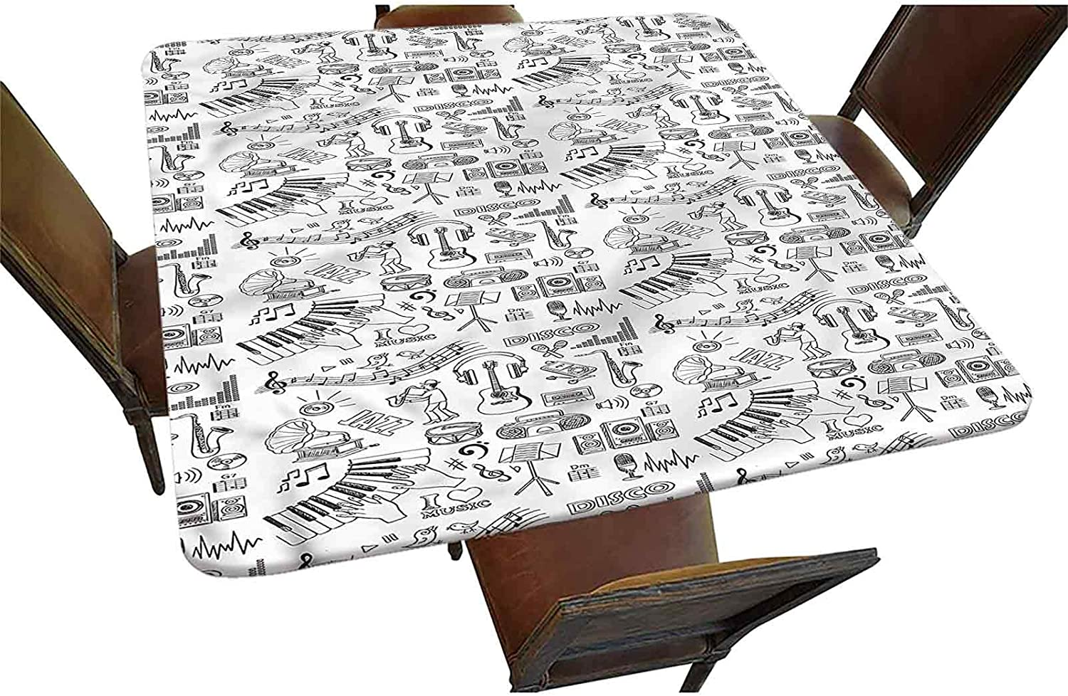 Sketch Decorative Elastic Edged Variety Nashville-Davidson Mall Square Tablecloth Fitted Washington Mall